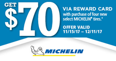 Michelin Tires $70 Rebate