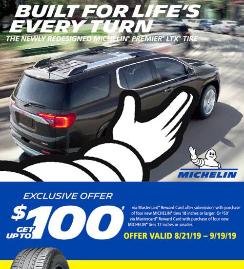 Michelin Tires - Up to $100 Rebate